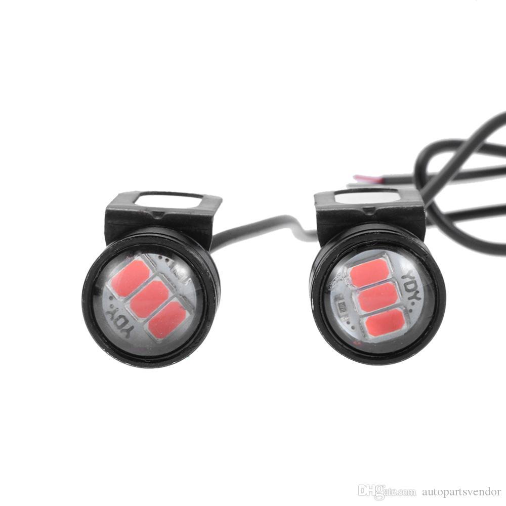Luz 10X DC 12V 5W motocicleta estroboscópico de la señal DRL luz intermitente de la lámpara de copia de seguridad ts luces DRL de 18 mm Luz de estacionamiento de la señal de luz LED