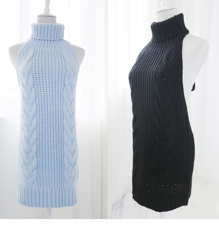 2020 مثير Bodycon بلا ظهر النساء بلوزات بلوزة ربطية بلوزة فوق Pullovers محاكة Poncho سحب Femme أزرق أبيض أسود رمادي وردي اللون