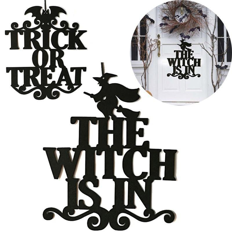Halloween Party DIY Творческое ведьма в Хэллоуин Висячие двери Знак висячие украшения подарки украшение украшения для партии