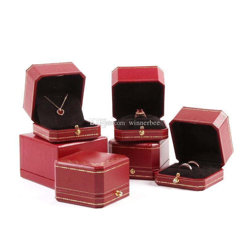 Luxe Anneau d'emballage Boîtes Mode Femmes Boîte à bijoux de haute qualité Collier d'emballage Boîtes Livraison gratuite Ins Hot
