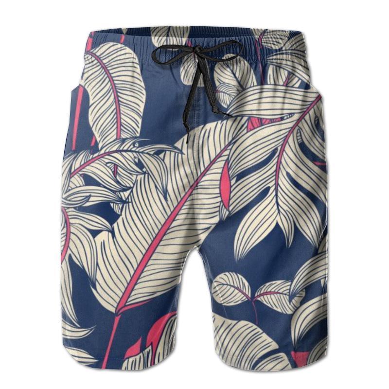 Men Beach Shorts Quick-drying Men Swimming Trunks Selenicereus Chrysocardium And Hoya Obovata Beachwear Beach Bathing Shorts