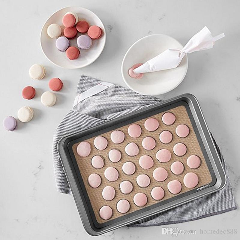 Silikon Pişirme Mats Pişirme Liner En Silikon Fırın Mat Isı Yalıtımı Pad Bakeware Masa Mat Pişirme Pasta Araçları DH0659