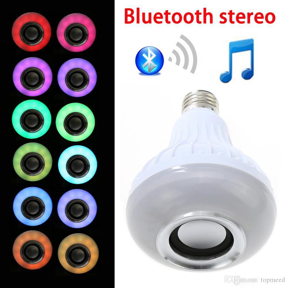 Bulb Novo Wireless Speaker Bluetooth RGBW LED Light Com RF remoto lâmpada wi-fi Smart Control cor variável lâmpada LED inteligente E27
