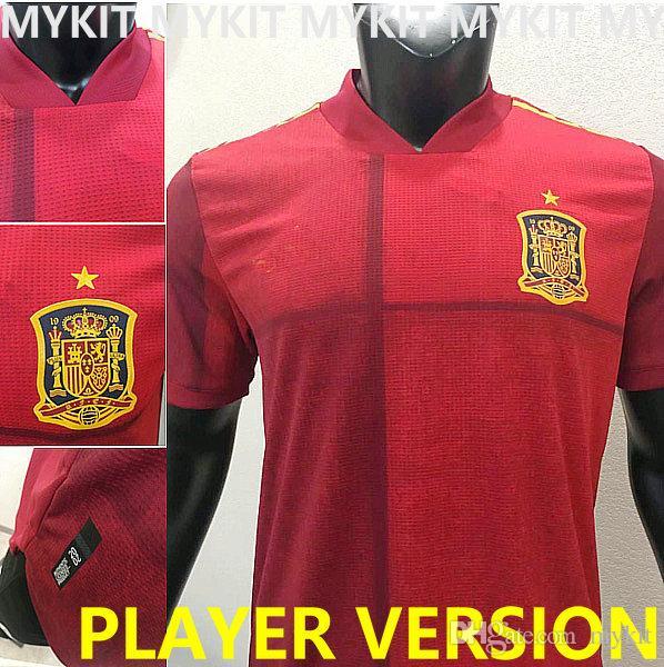 جديد 2020 إسبانيا لكرة القدم جيرسي لاعب صيغة ESPANA 20 21 camiseta دي فوتبول SERGIO RAMOS A.INIESTA أسنسيو التصنيف المهني PACO SILVA موحدة لكرة القدم
