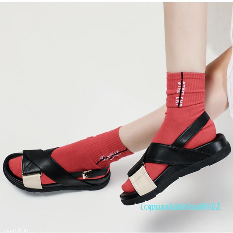 Muffin цветов блока ремешок открытый носок платформы сандалии женщин лианы крест группа гладиаторов sandalias пряжки клинья пятки флип-флоп t12