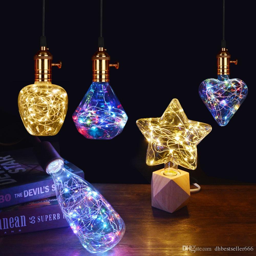 2019 LED Lamp Edison Light Bulb Vintage Decoration E27 LED Filament lamp Copper Wire String Replace Incandescent Bulb