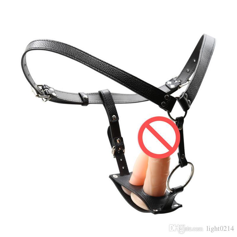 Cintura di castità con spina anale PU Pantaloni di castità Clit Stimolazione intimo SM Ritenuta Cintura Giocattoli erotici per donne C3-2-64