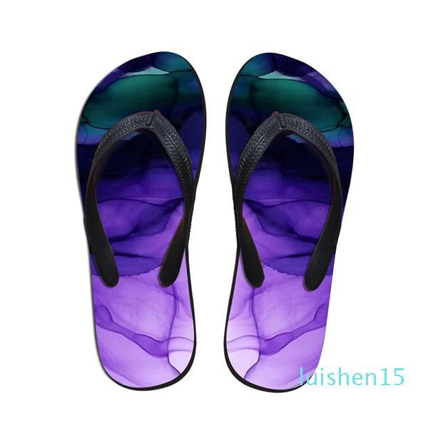 WHEREISART 2018 Fashion Flip Flops Slip-on Femme Femme Plage d'été Chaussures Femmes Casual Maison Chaussons Flats en caoutchouc Tongs L15