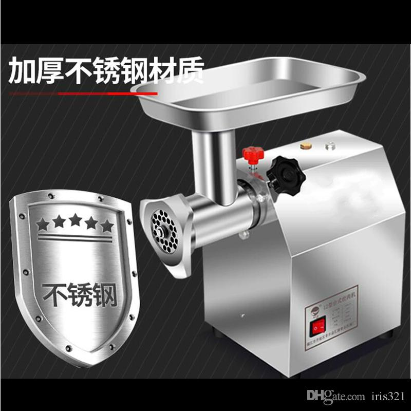 Elektrik kıyma makinesi ticari paslanmaz çelik çok fonksiyonlu ev otomatik kıyma makinesi et sucuk dolum makinası