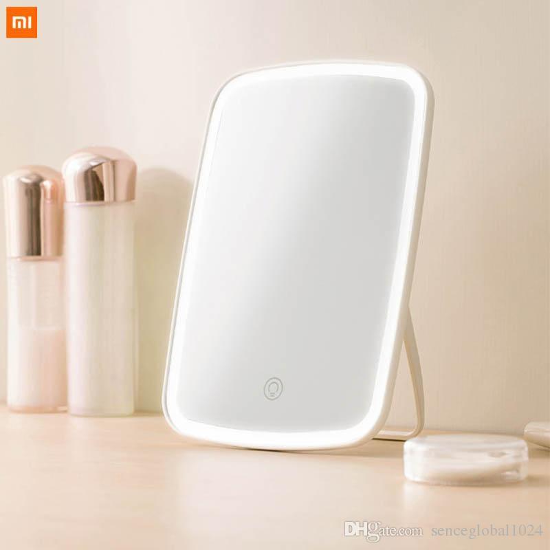 Nueva original Xiaomi Mijia inteligente escritorio espejo de maquillaje portátil llevó la luz portátil plegable espejo de la luz del escritorio del dormitorio