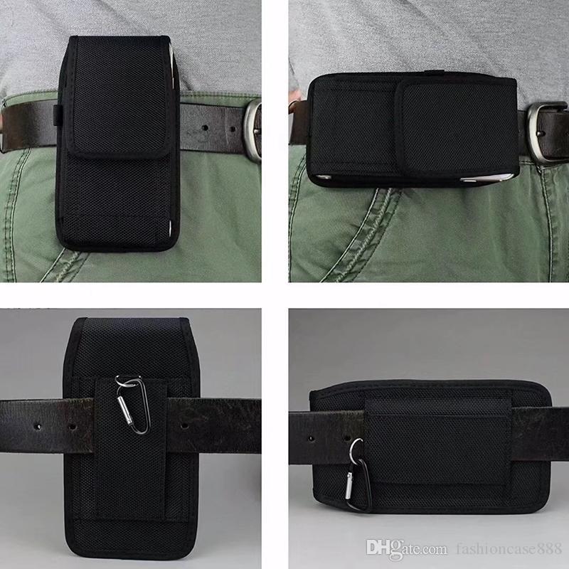 Sport Nylon Clip Clip Clip Holster Universal Pelle Pouch Vita Flip Copre Cellulari Custodie per iPhone Samsung Huawei Xiaomi Moto LG