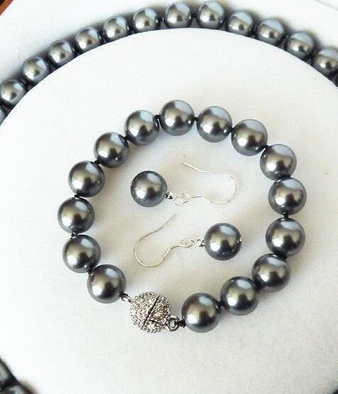 ювелирные изделия редкие 10 мм Южное море раковина жемчужное ожерелье