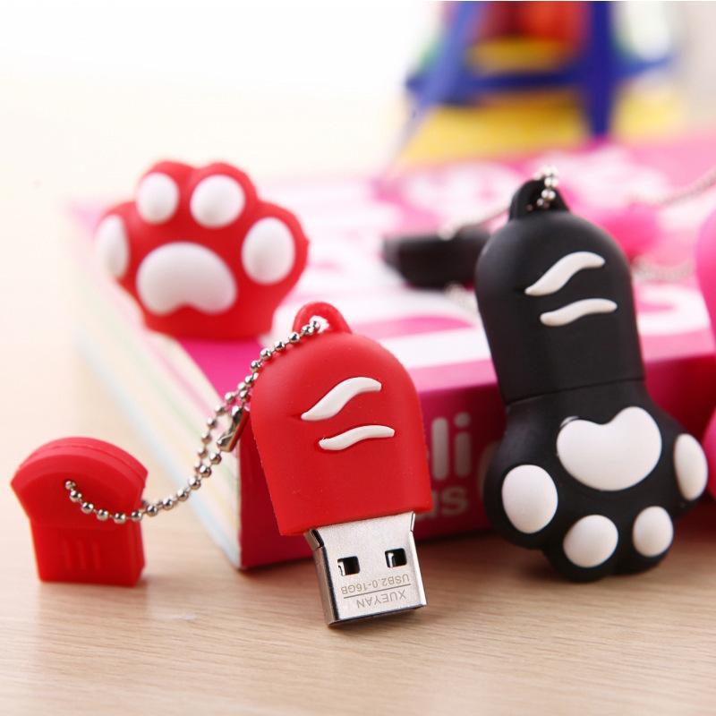 128 GB Sevimli Karikatür Kedi USB Flash Sürücü 128 64 GB 32GB 16GB Git Cle USB 2.0 Pendrive Pen Drive Bellek Sitck, Ücretsiz Kargo