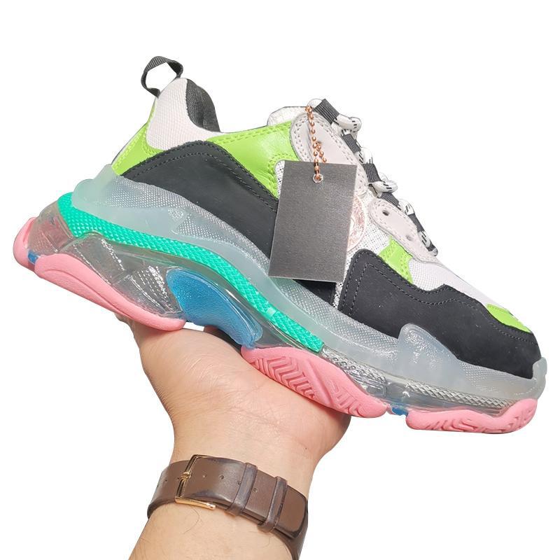 Qualitäts-Frauen Mode Luxusdesigner-Schuh-Turnschuhe der Frauen-Basketball-Schuhe Triple S Sneakers Low Cut Freizeitschuhe Größe 35-40 Typ6