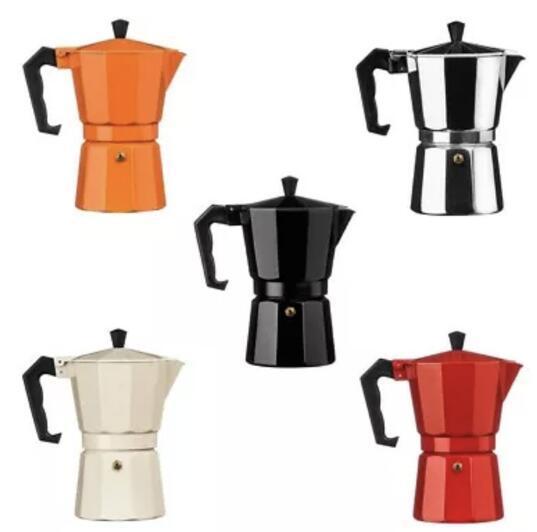 Kahve Makinesi Alüminyum Mocha Espresso Percolator Pot Kahve Makinesi Moka Pot 1 Kupa / 3 Kupa / 6 Kupo / 9 Kupa / 12cup Stoetop Coffee Maker