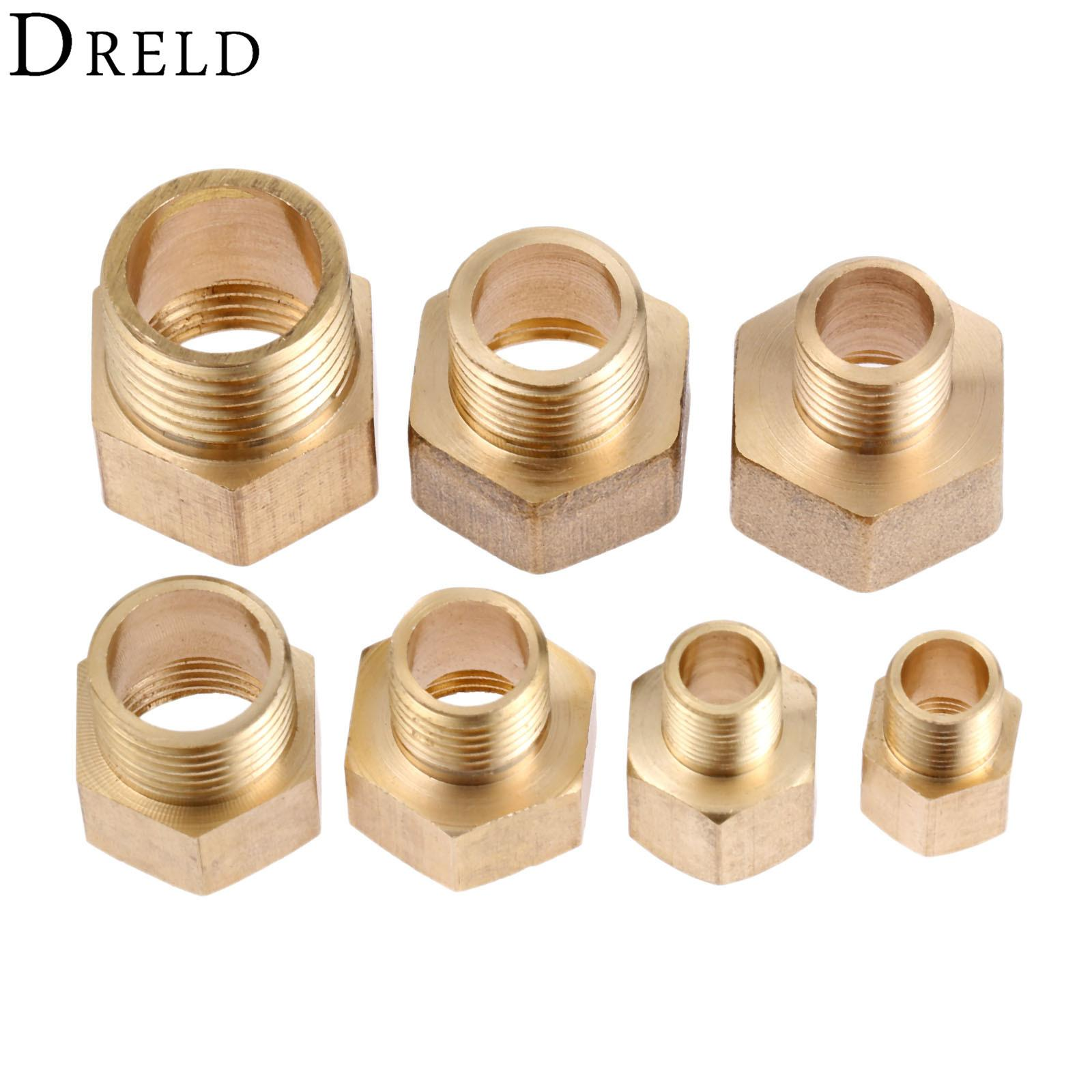 "1//4/"" PT x 1//4/"" PT M//M Brass Hex Nipple Equal Connector for Air Water Pipe"