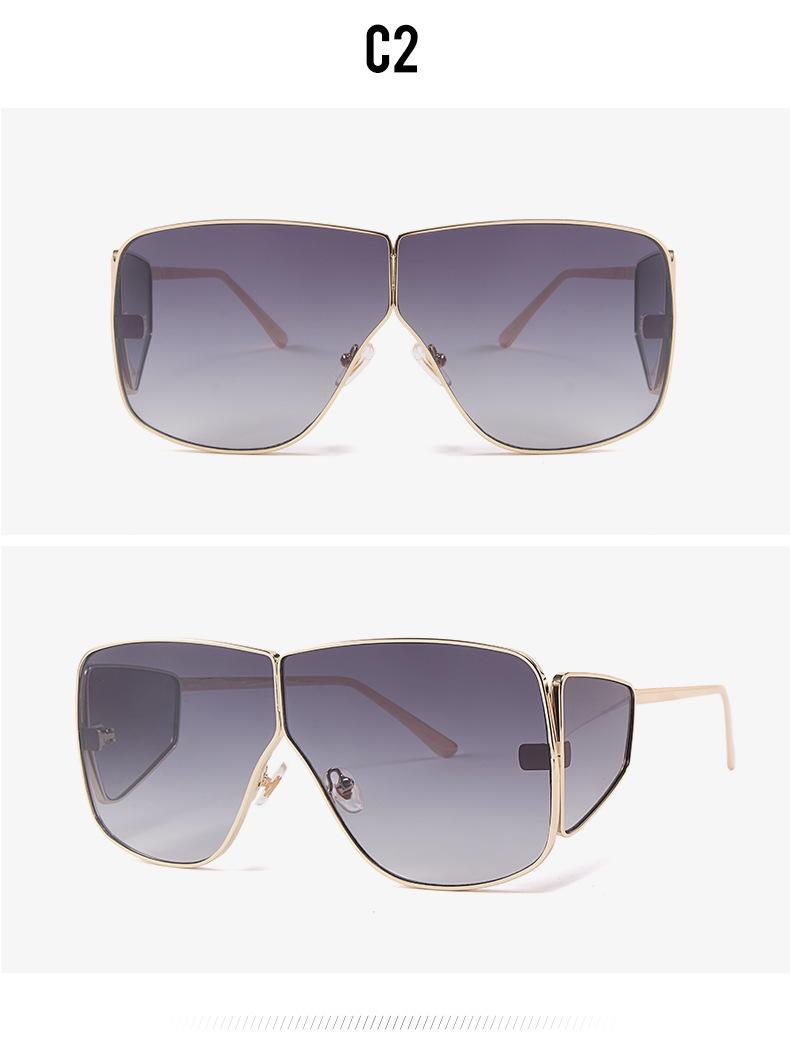 Большой кадр солнцезащитных очки четыре линзы очков моды для мужчин женщины 2019 новых модных очков очков женских солнцезащитных очков женщин-Оттенков большой рамы Cat