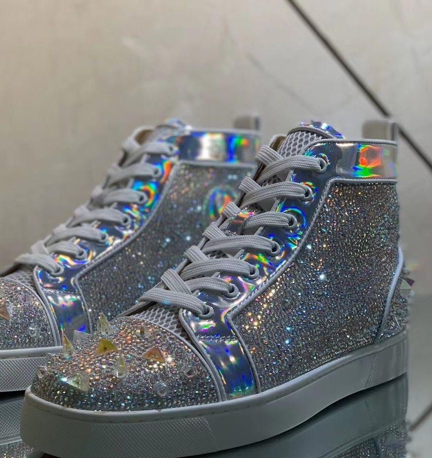 atacado fábrica de melhor qualidade última moda bling bling projeto sapatos casuais, instrutor, tênis de marca, entrega rápida