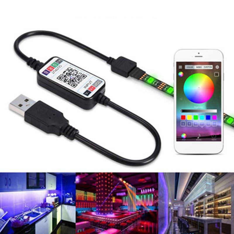 WiFi LED RGB Controller DC5V-24V 12A 17key mini RF Wireless Remote Dimmer For 5050 3528 RGB Flexible Strip Light