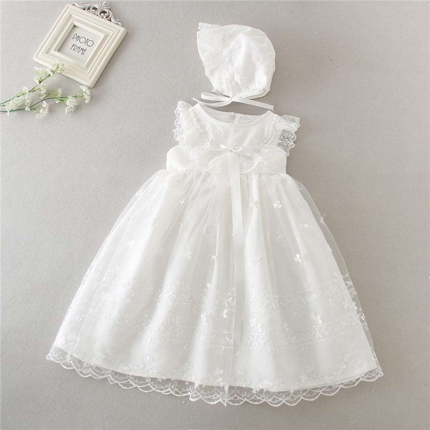 Sz  12 Month Baptism White Dress 24 Month Toddler Girl Christening Infant