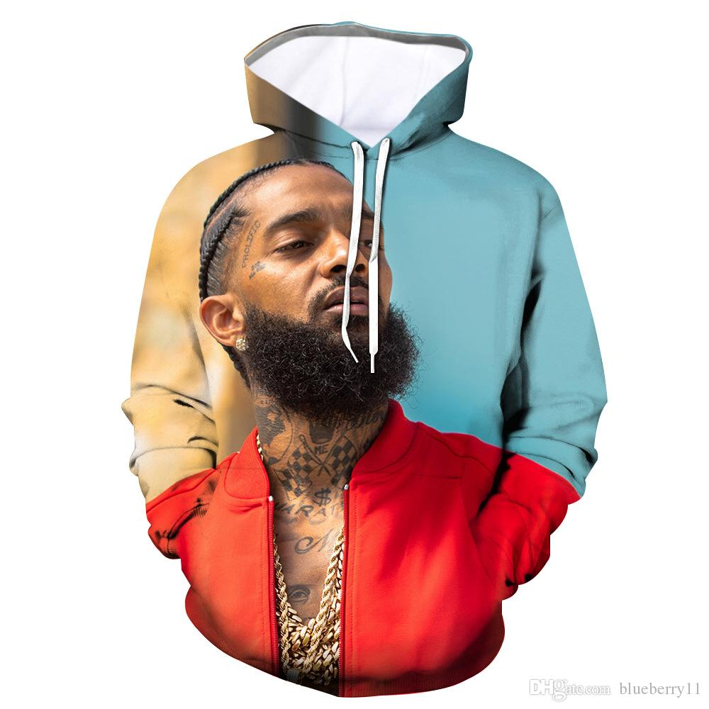 Nipsey hussle 3D Printed Casual Sweatshirts Casual Männer Hoodies Langarm Designer Sweatshirts Plus Größe S-4XL