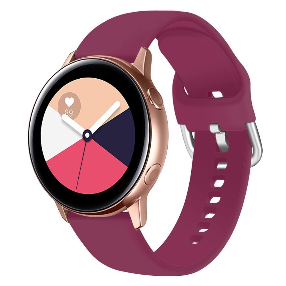 Samsung galaxy aktif izle watch band 20mm huawei için spor bantları izle yedek kayış bilezik 91018