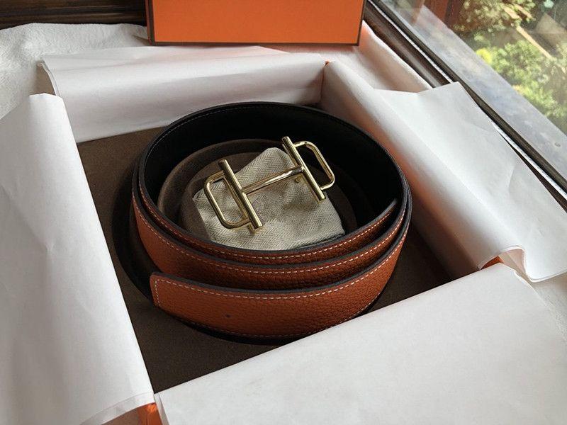 2019 Designer Gürtel der Männer und der Frauen-Gurt mit der Mode-große Wölbung Echtes Leder Top Designer-Qualitäts-Luxus Gürtel H Marke