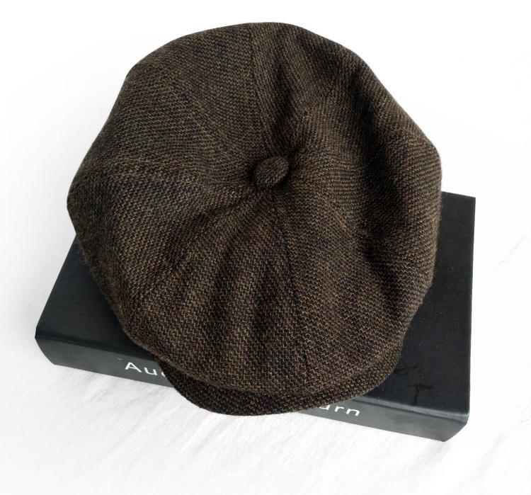 El otoño y el invierno cálido sombrero Nuevo Retro octogonal otoño y el casquillo del invierno Arte Joven casquillo del sombrero de los niños Bailey periódico de los hombres