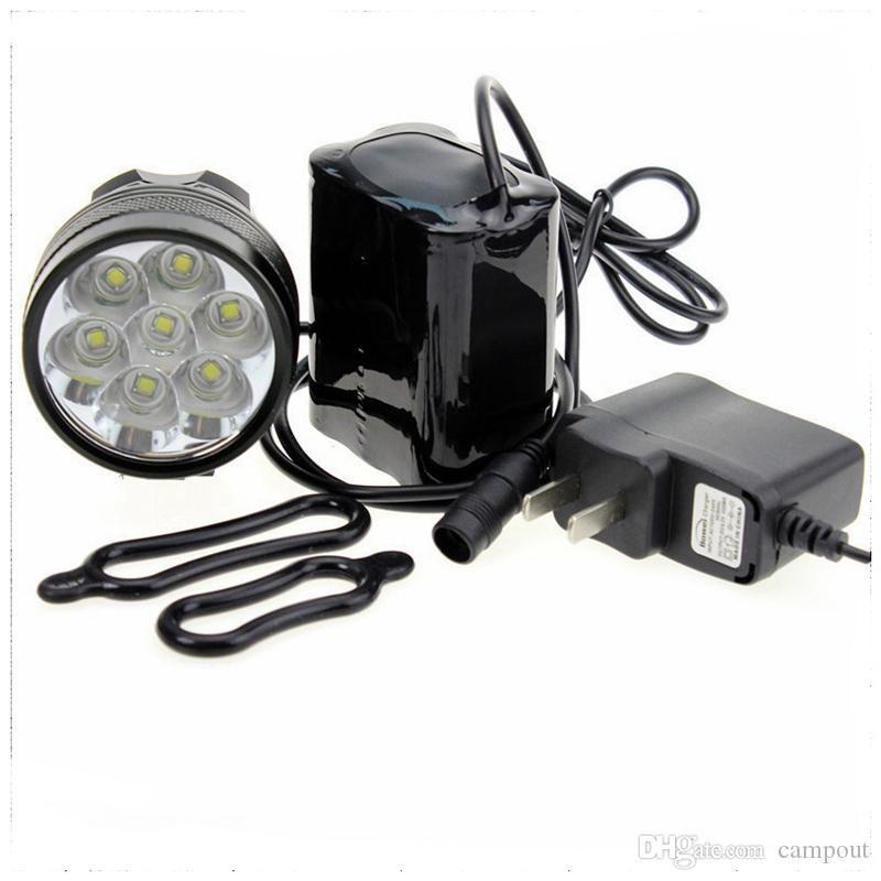 7 x étanche 10000Lm CREE XML T6 LED lumineux vélo vélo avant flash phare Light + 8.4V batterie rechargeable + chargeur