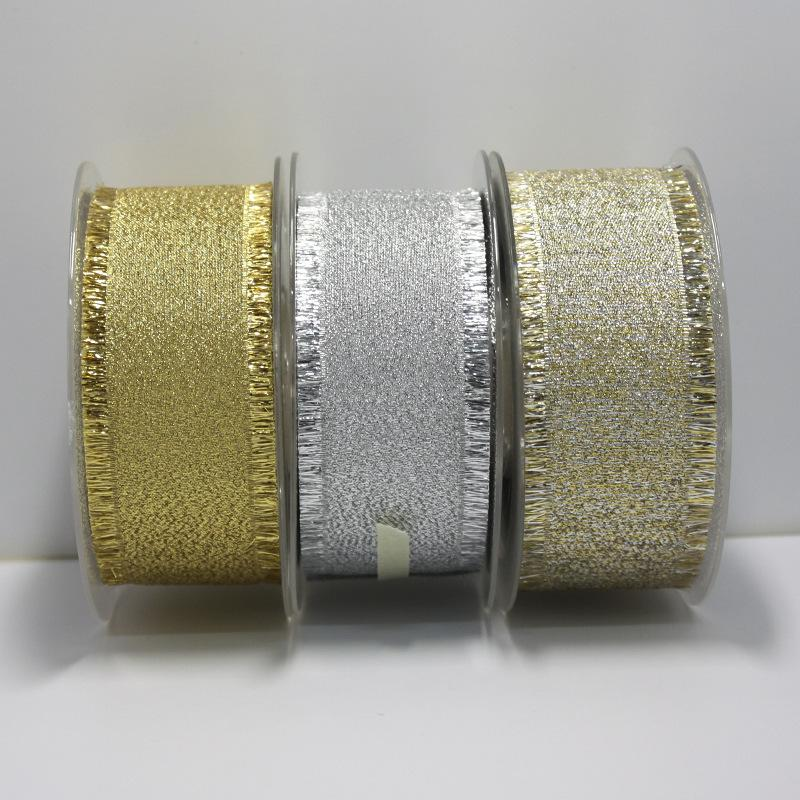 16/22/38mm Fashion Gold/Silve Purl Fringe Golden Ribbon DIY Crafts,Hair Bow,Sewing, Gifts Packing Wedding Party Decoration Ribbons