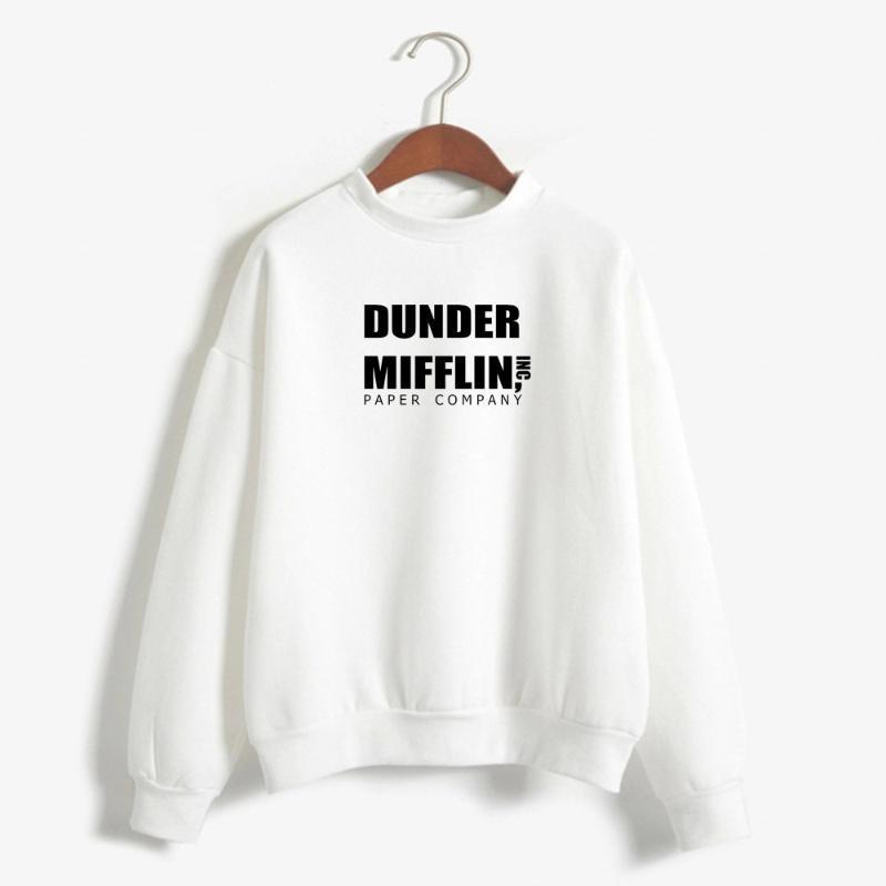 2020 Moda Ofisi Dunder Mifflin INC KAĞIT ŞİRKETİ TV GÖSTER Giyim Kazak Erkekler Sonbahar Kış Hip Hop Kapşonlu hoodies