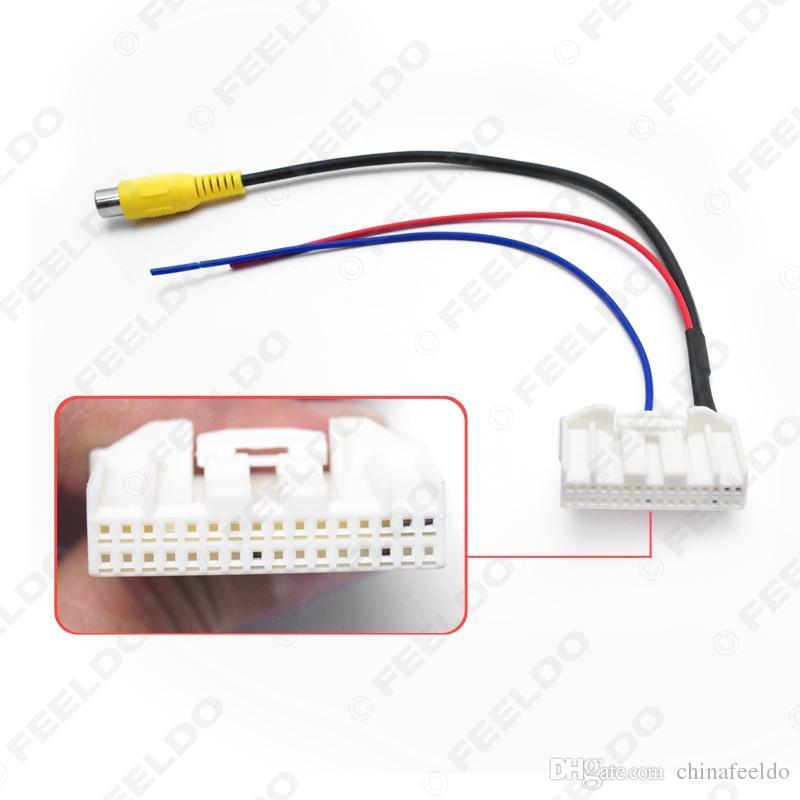 32-Pins Park Ters Arka Kamera Video Fiş Dönüştürücü Kablo Adaptörü Için Nissan Qashqai / Teana / X-Trail Araba Kafa Ünitesi # 2781