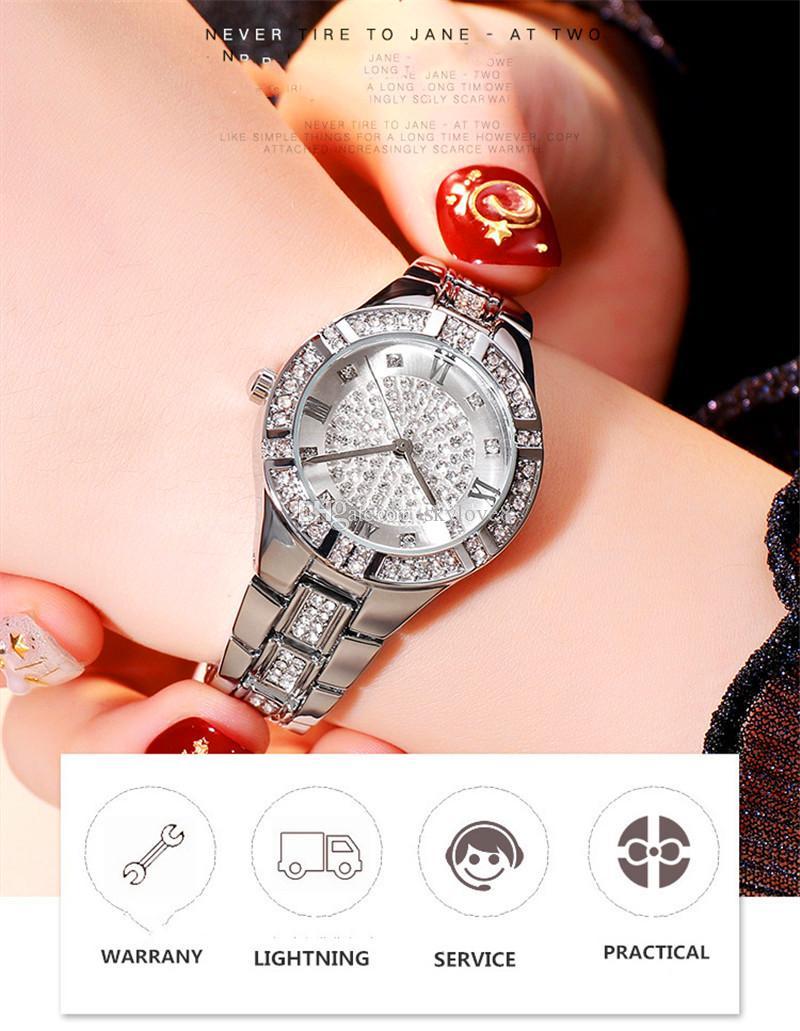 New listing fashion ladies watch IP plating Japan brand quartz movement Roman numerals women bracelet watch diamonds ladies dress watch