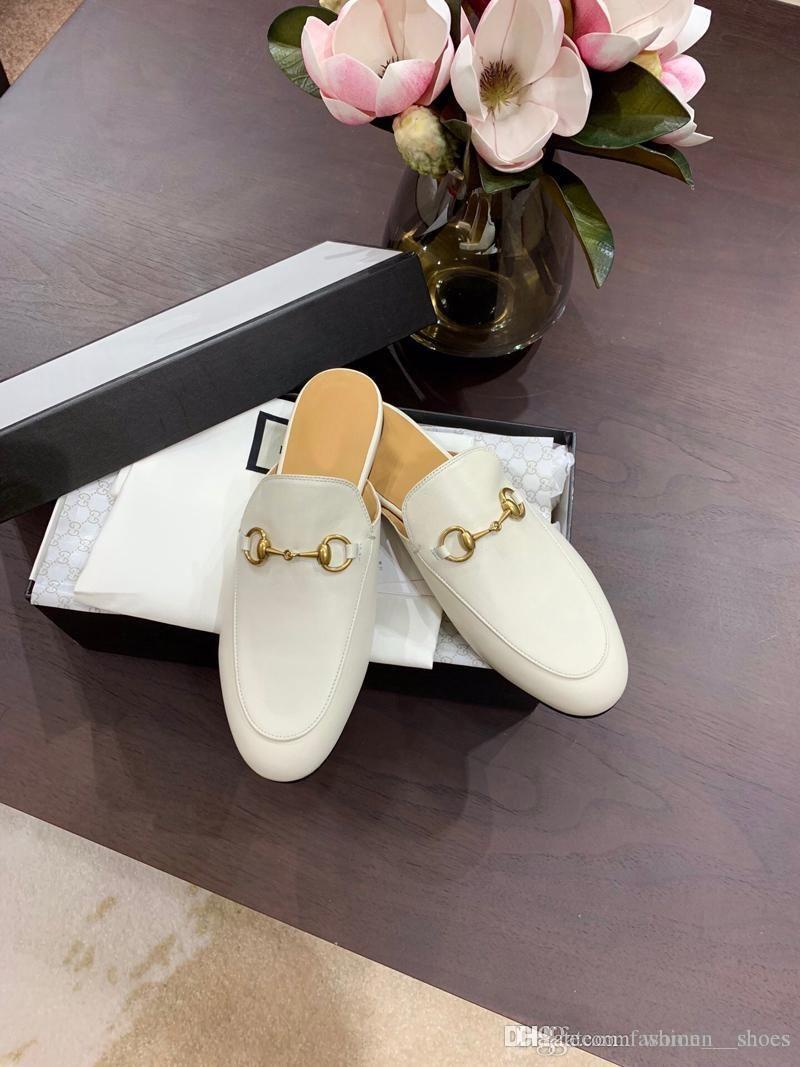 2020 Art und Weise Luxus-Designer-Frauenschuhe Pantoffel Vintage Stardesigner Flipflophefterzufuhren mit Kastengröße 34-40 -222