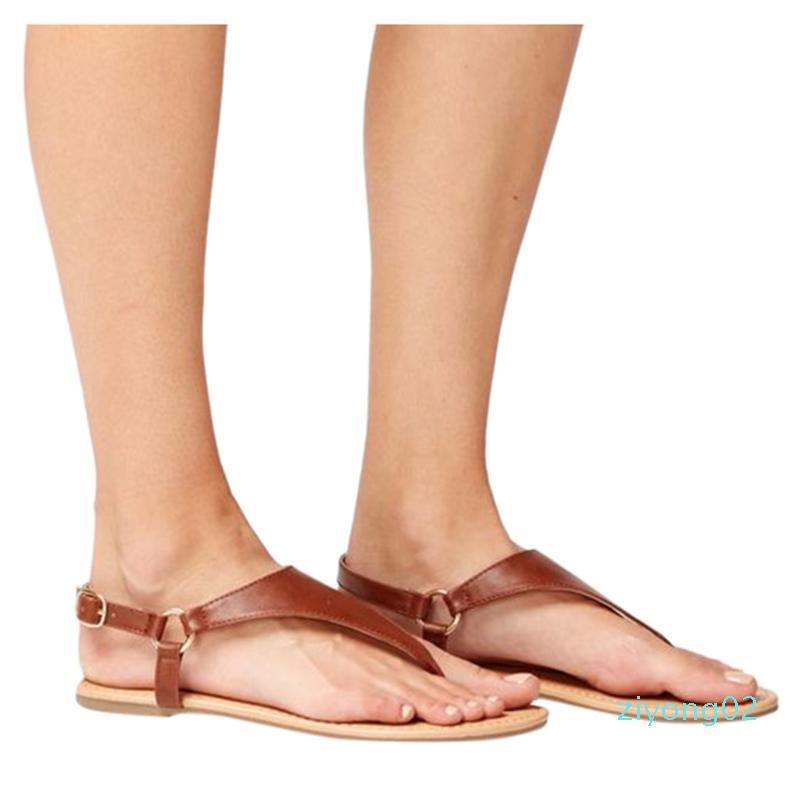 Roma Kemer tokası Kaymaz Düz Sandalet Kadın Ayakkabı Yeni Geliş Düz Kadın Yaz Ayakkabı Zapatos De Mujer Kadın Sandal Z02