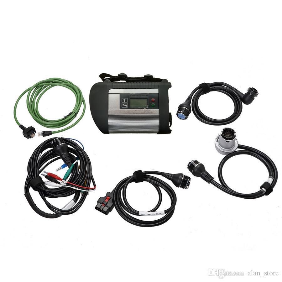 Высокое качество MB STAR C4 SD CONNECT диагностический инструмент с 5 кабелями с WIFI и 21 языком DHL БЕСПЛАТНО