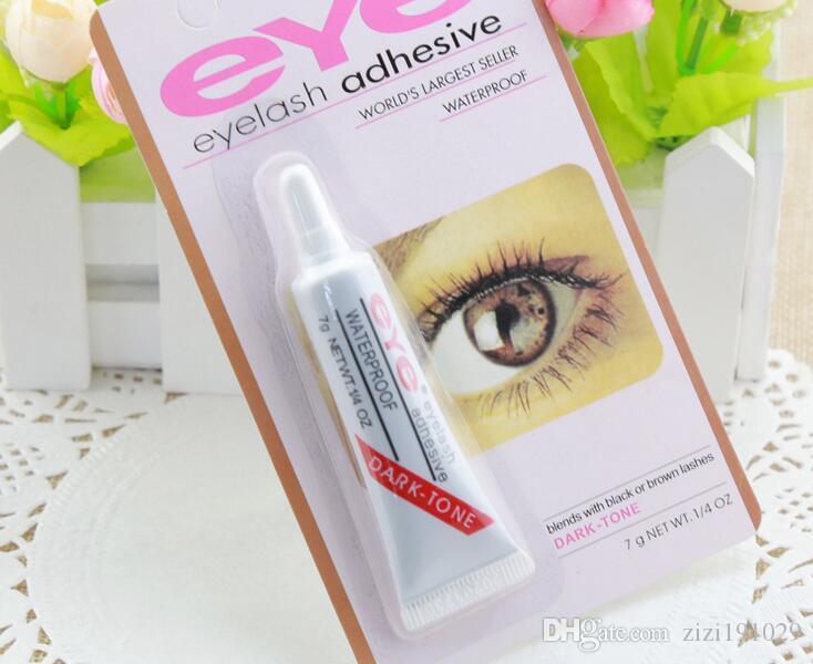 O rímel mais barato, cola, cílios postiços, maquiagem branca e preta clara, rímel impermeável, ferramentas de maquiagem 9g de adesivos de olho de olho