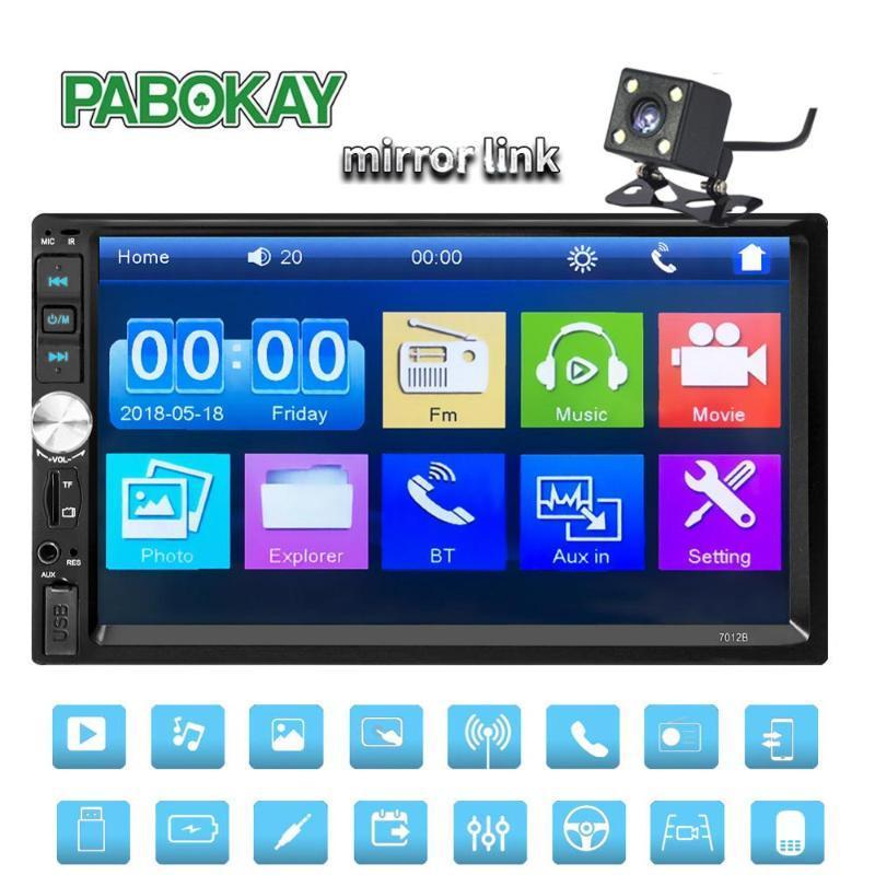 2 الدين راديو السيارة كوشي مسجل بلوتوث 2DIN 12V لاعب 7 7012b HD شاشة تعمل باللمس MP3 MP5 السيارات صوت ستيريو TF USB FM Autoradio