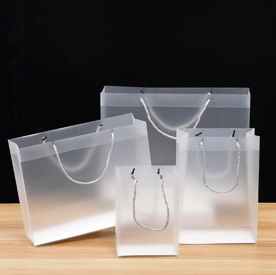 PVC çanta reklam hediye alışveriş çantası pp şeffaf buzlu plastik torba