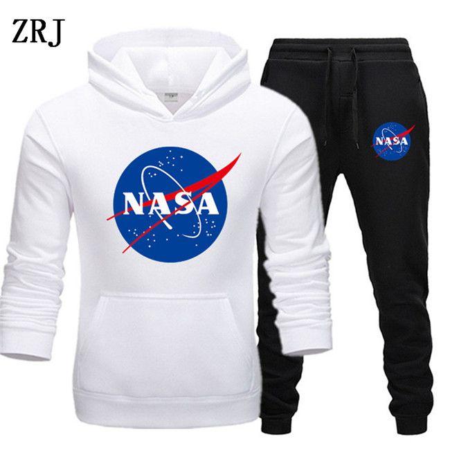 Modedesigner NASA Anzug Frühlings-Herbst-beiläufige Unisex Marke Sportswear Herren-Trainingsanzüge Qualitäts Hoodies Herrenkleidung EL-4