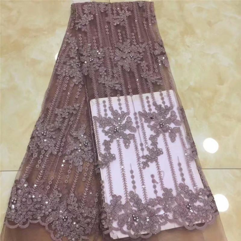 Французский Африканский Кружевной Ткани Гипюр Блестками Из Бисера Хлопковый Шнур Тюль Нигерийская Тиссу Сетки Индия Кружева Для Свадебного Платья