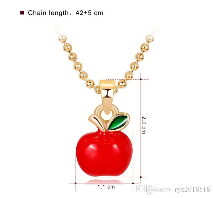 Alloy Enamel Cartoon Fashion Women Man Gift Necklace Unisex Jewelry Pendant
