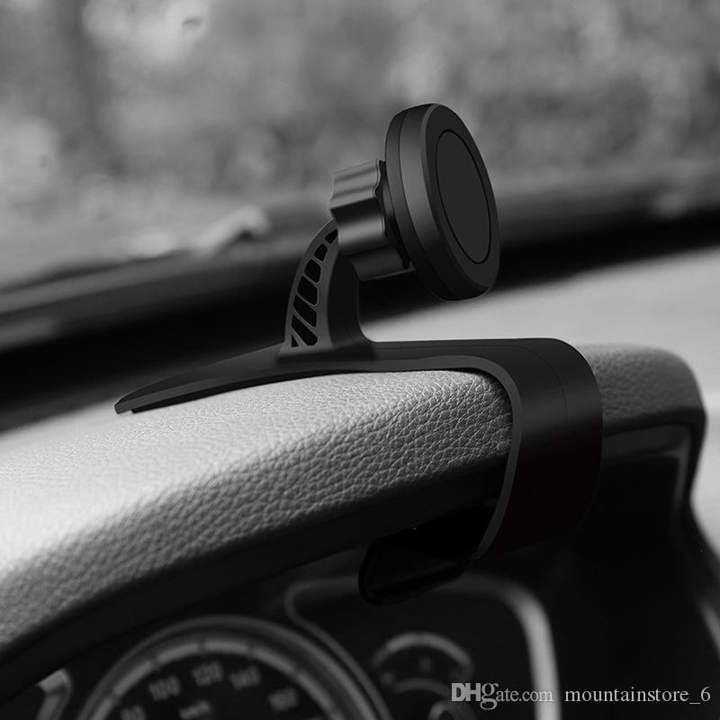 Recién coche universal del tablero de instrumentos Soporte magnético para Iphone X 8 antideslizante Teléfono ajustable del soporte del coche para Samsung Mounts (al por menor)
