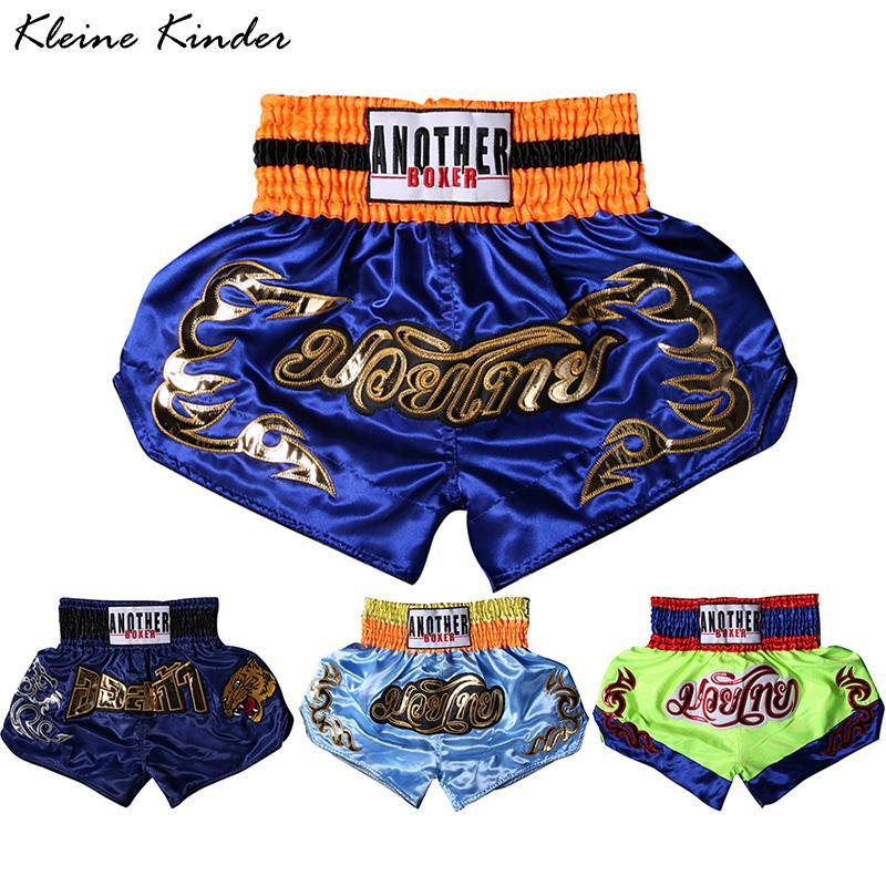 Men Boy Kick Boxing Shorts Muay Thai Shorts Woman Children Fight Grappling Trunks Kids Kickboxing Sanda Sportswear Pants