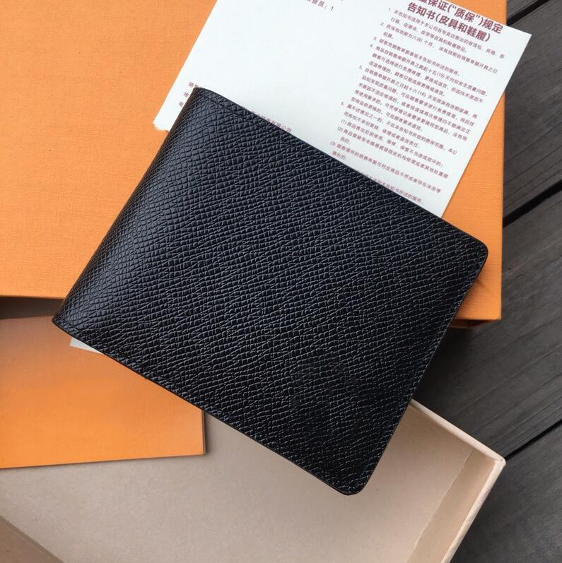 Designer Mens Wallet Famous Men Luxury Wallets Spezielle Leinwand Multiple Short Kleine Bifold Wallet-Kartenhalter mit Box
