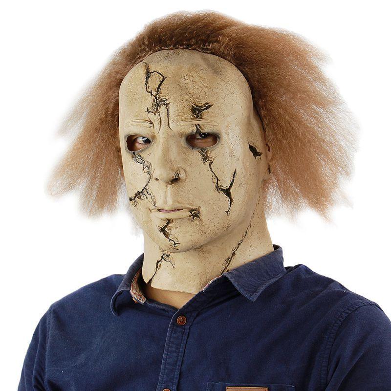 Korku Büyücü Palyaço giyinmek parti Yeni Escape Masquerade Cadılar Bayramı Partisi için Lateks Tam Yüz Yetişkin Maskesi