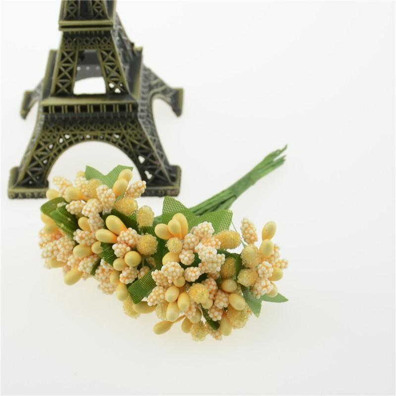Düğün Dekorasyon DIY Hurda Rezervasyon Dekoratif Çelenk Sahte Çiçekler BJStor Yapay Bud Stamen Berry Bacca Çiçek