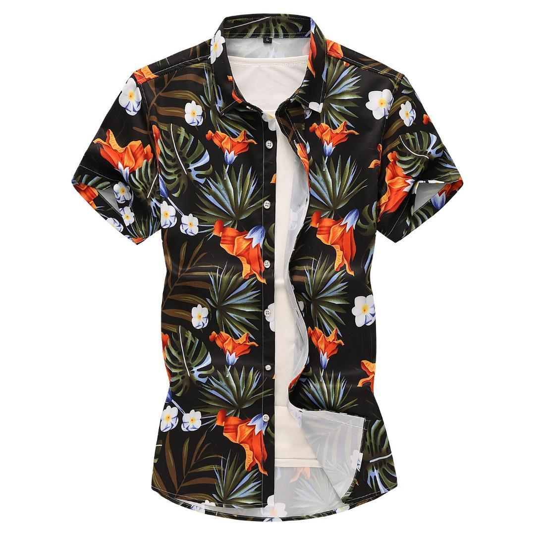 2019 Hawaiian Shirt For Men Clothing Evening Dress Casual Social Shirt Plus  Size Short Sleeve Blouse Men Summer Black White From Numero, $30.61 | ...