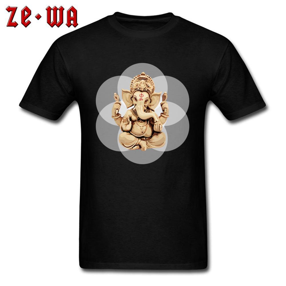 남자 티셔츠 신성 Genasha 티셔츠 가족 생일 선물 티셔츠 3D 코끼리 하나님 프린트 의류 오버 사이즈 Mens Tops Tees 블랙