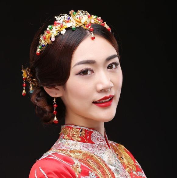 Chinesischer Brautkopfschmuck Phoenix Crown Hochzeit neue Haar-Zusätze Hairpin-Kamm-Outfit A-115